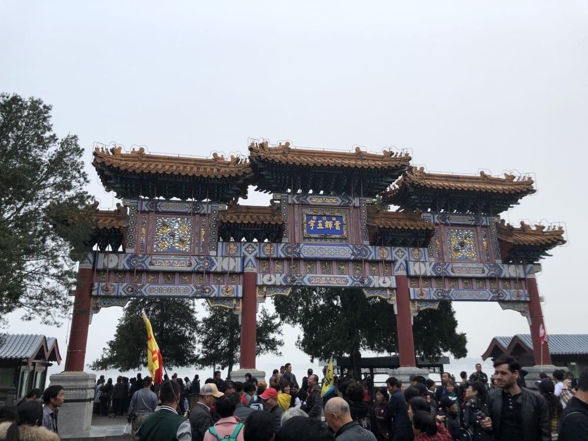 Kina, kineski, gužva, događaj, ljudi, religija, vjersko, hram, putnik, zgrada