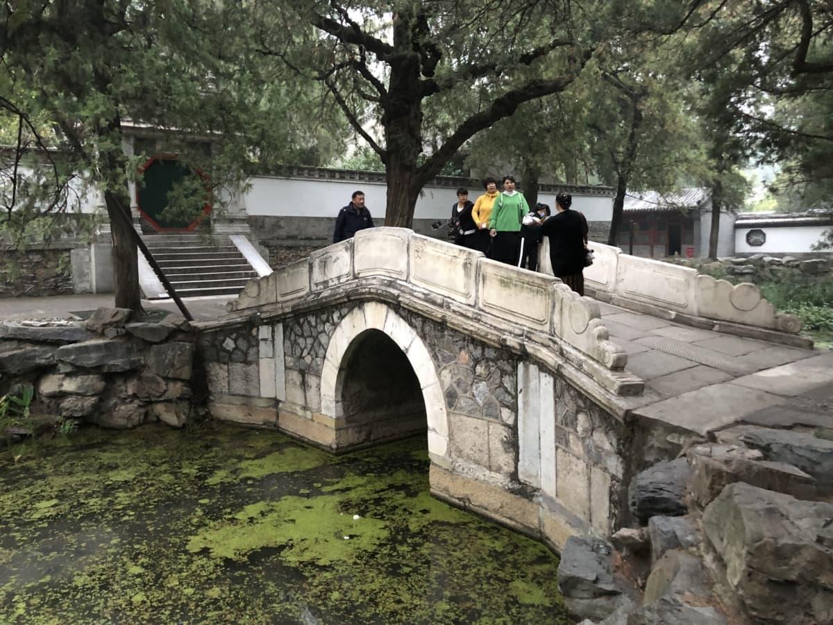 most, Kina, kamen, turizam, turista, arhitektura, groblje, drvo, voda, rijeka