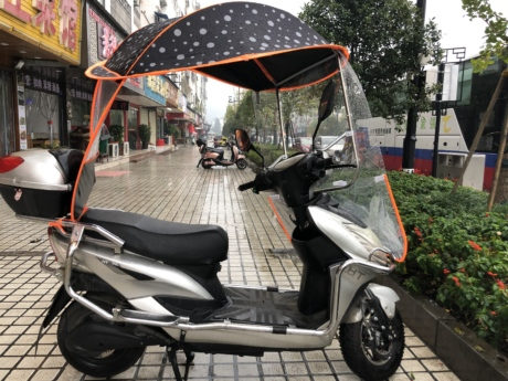moped, motorcycle, protection, rain, scooter, equipment, vehicle, wheel, street, city