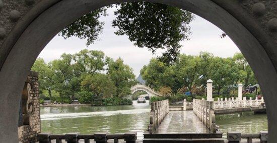arches, style architectural, L'Asie, pont, Château, eau, rivière, architecture, à l'extérieur, canal