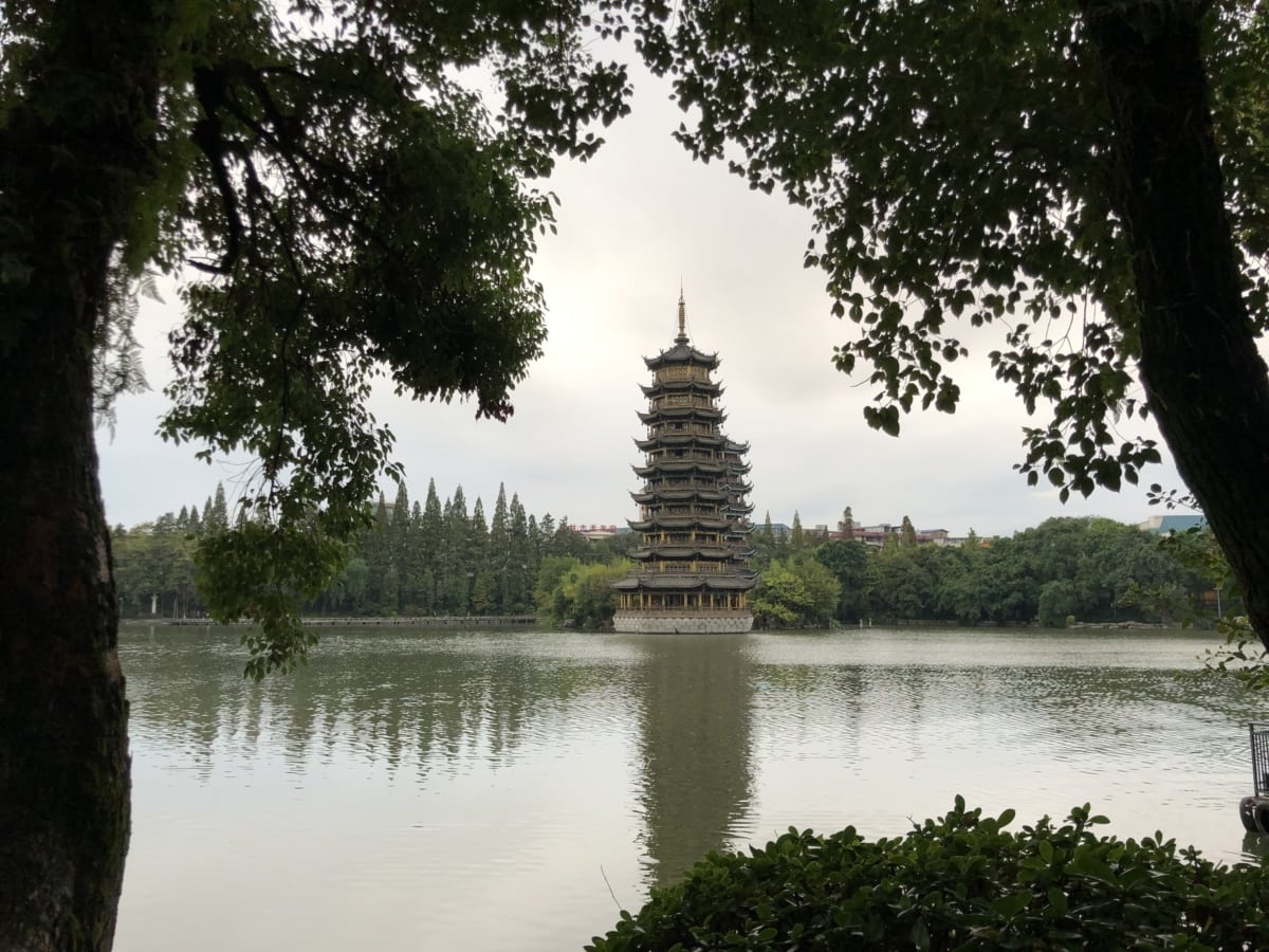 castle, China, chinese, culture, exterior, heritage, tall, temple, shrine, lake