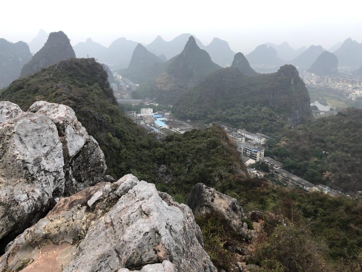 Азия, градски пейзаж, планинска област, хълм, туристическа атракция, долината, линия, пейзаж, планини, планински