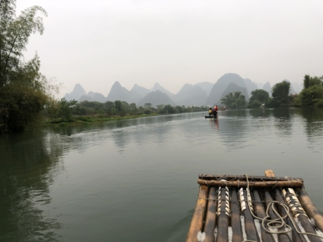 China, jungle, rafting, lake, water, basin, lakeside, boat, river, shore