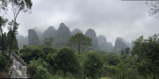 kastil, Cina, bukit-bukit, hutan, tangga, gurun, kabut, Gunung, hutan hujan, pemandangan