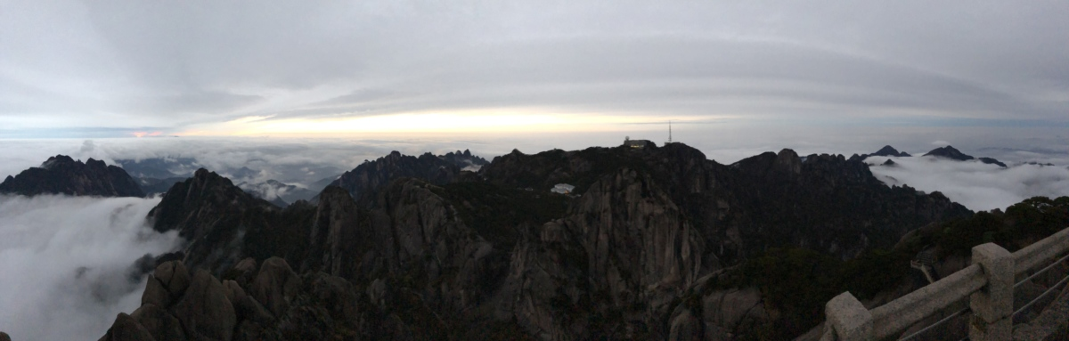 clouds, foggy, overlooking, panoramic, scenic, valley, canyon, ravine, cliff, sunset