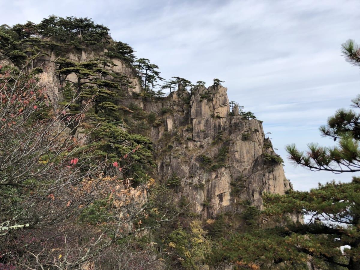 Клиф, ерозия, планинска област, мегалит, пейзаж, дърво, рок, планински, природата, на открито
