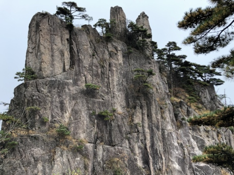 big rocks, cliff, vertical, tree, mountain, landscape, nature, rock, outdoors, sight