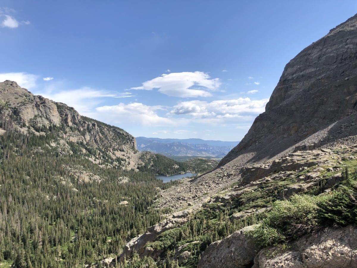 fair weather, rocks, sunshine, valley, mountain, landscape, nature, ascent, mountains, slope