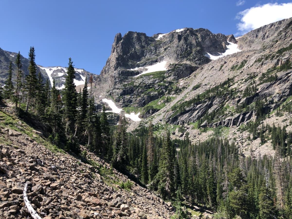 Ascent, paysage, pente, gamme, montagne, montagnes, neige, nature, à l'extérieur, bois