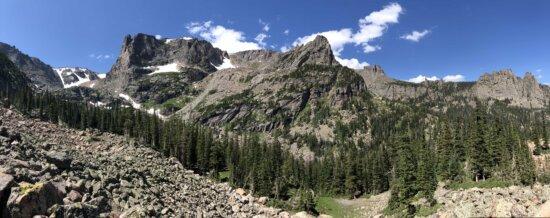 panorama, valley, range, mountains, landscape, mountain, nature, outdoors, wood, mountain peak