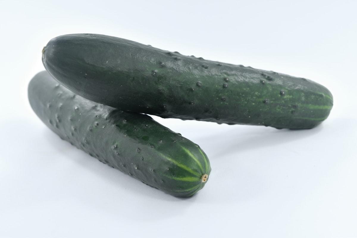 agurk, frisk, økologisk, vegetabilsk, mad, producere, natur, sundhed, ernæring, ingredienser