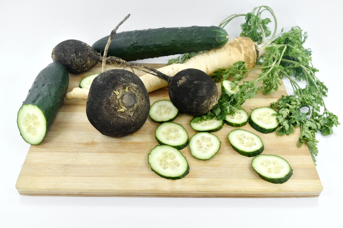 castravete, proaspete, organice, pătrunjel, ridiche, rădăcină, salata, legume, sănătos, alimente