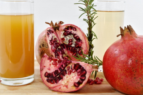 antioxidant, citrus, exotic, fruit juice, spice, syrup, tropical, pomegranate, juice, health