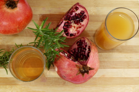 antioxydant, jus de fruits, herbe, nutrition, pimenter, Grenade, alimentaire, jus de, fruits, frais
