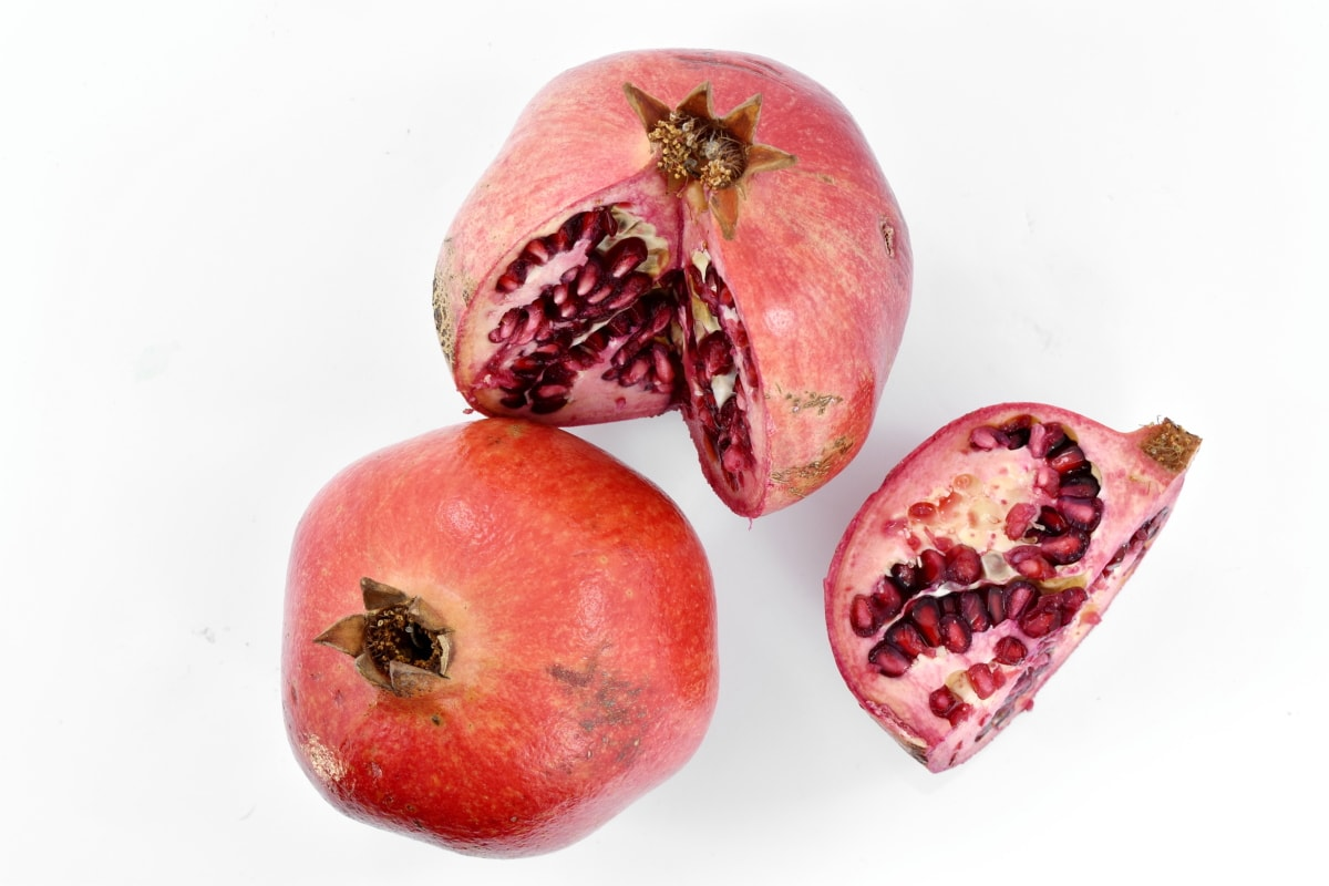 food, produce, healthy, sweet, fresh, pomegranate, tropical, fruit, exotic, nature