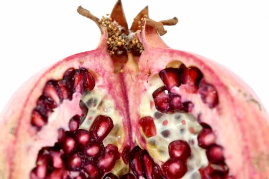 close-up, cross section, pomegranate, seed, exotic, sweet, food, fruit, tropical, produce