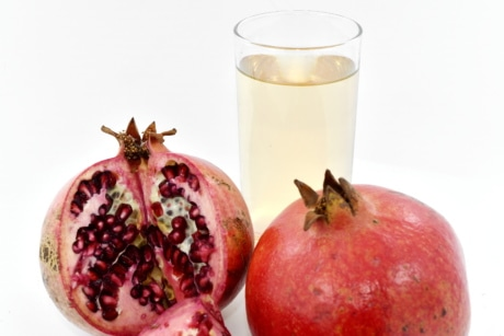 beverage, fruit cocktail, juice, pomegranate, food, fruit, produce, fresh, tropical, health