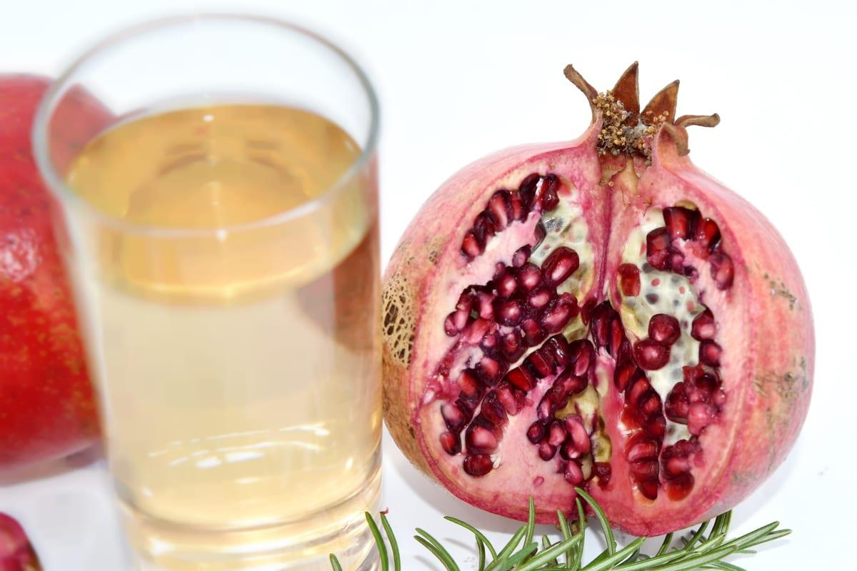 drinking water, fresh water, lemonade, sweet, juice, fruit, pomegranate, food, glass, tropical