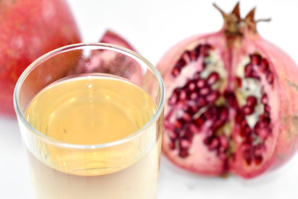 antioxidant, citrus, exotic, fresh, fruit juice, pomegranate, tropical, health, glass, fruit