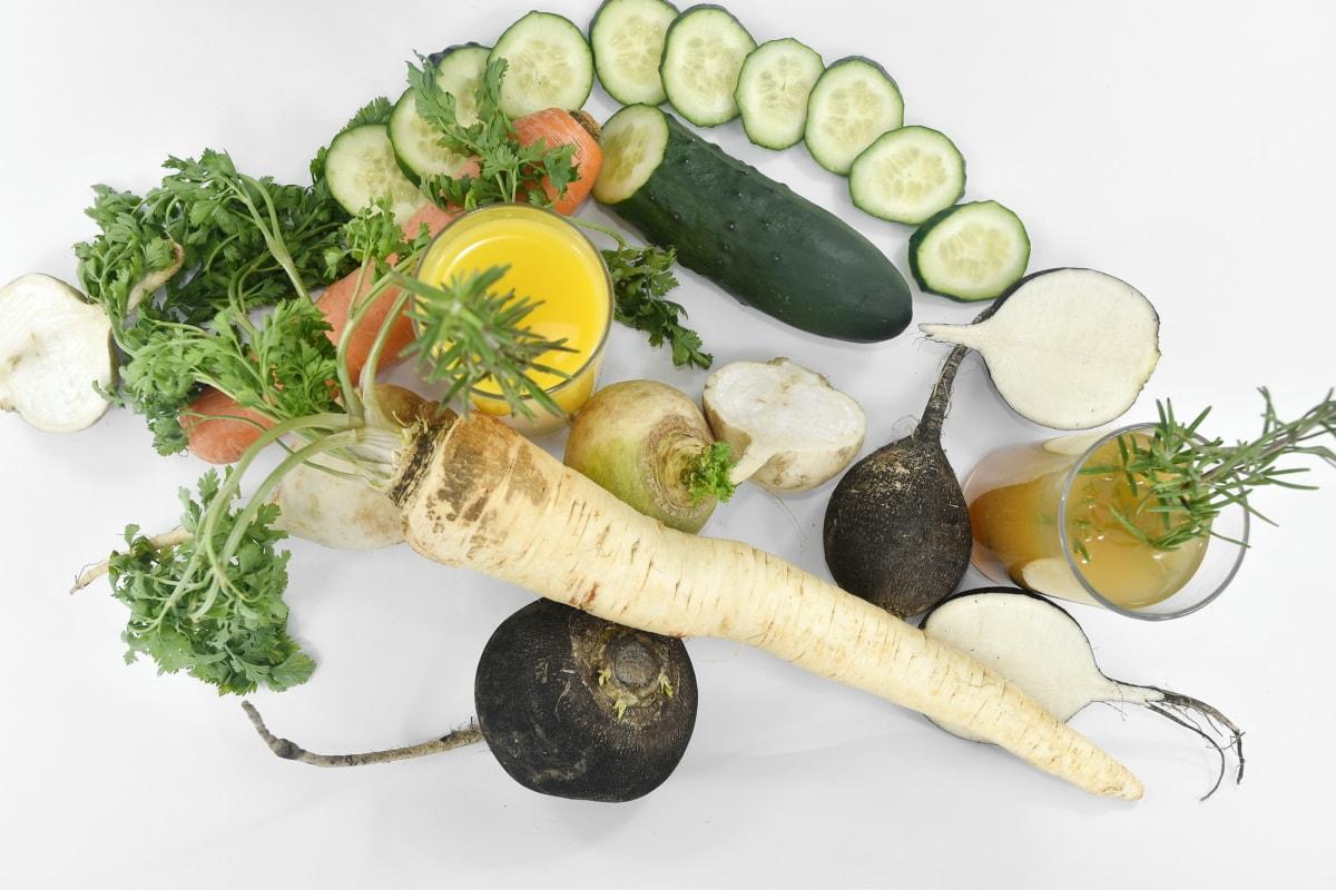 carrot, cucumber, fruit juice, organic, roots, vegetables, vegetarian, produce, salad, food