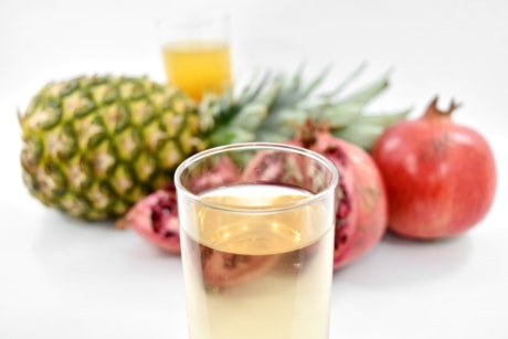 antioxidant, beverage, citrus, cocktail, exotic, fruit cocktail, fruit juice, minerals, pineapple, pomegranate