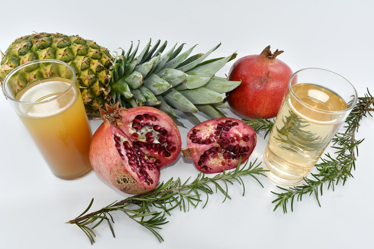 calorie, citrus, fruit juice, pomegranate, vegan, food, vegetable, fruit, diet, pineapple