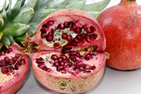dessert, produce, tropical, health, fruit, pomegranate, food, sweet, fruit tree, nutrition