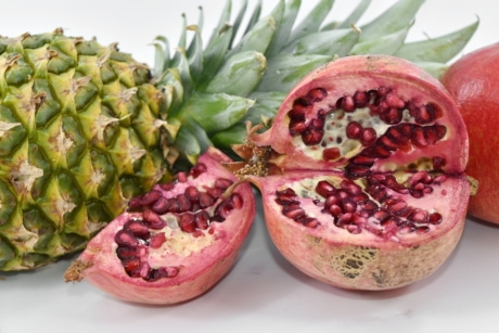 exotic, pineapple, tropic, pomegranate, tropical, food, diet, produce, fruit, healthy