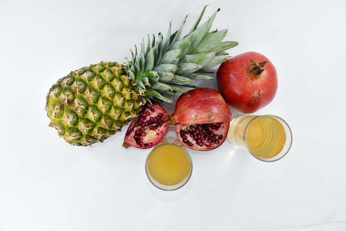 antioxidant, beverage, drink, fruit, pineapple, pomegranate, syrup, apple, vitamin, food