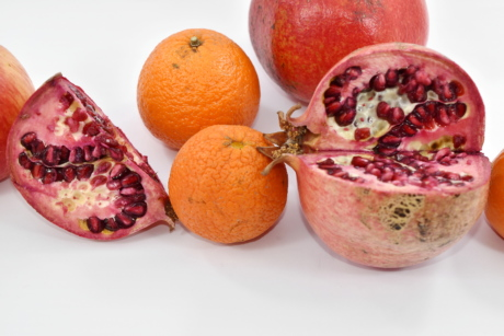 cross section, fruit, herb, mandarin, tropical, food, fresh, healthy, health, exotic