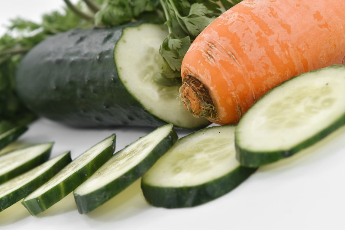 antioxidant, carbohydrate, carrot, cucumber, diet, organic, vegetables, food, health, healthy