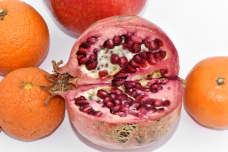 fresh, tropical, healthy, fruit, sweet, pomegranate, food, exotic, nutrition, juice