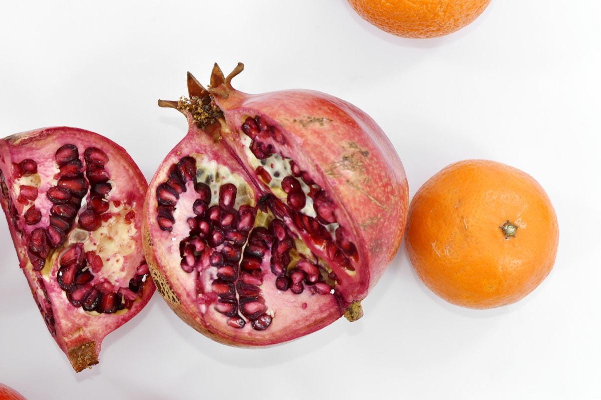 antioxidant, breakfast, citrus, cross section, exotic, healthy, herb, mandarin, meal, minerals
