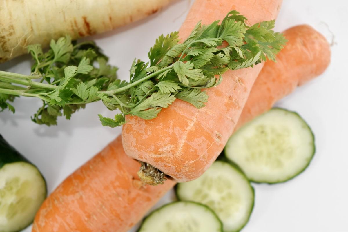 ผัก, ส่วนผสม, อาหาร, ผลิต, แครอท, สลัด, อาหารกลางวัน, สุขภาพ, ผักชีฝรั่ง, โภชนาการ