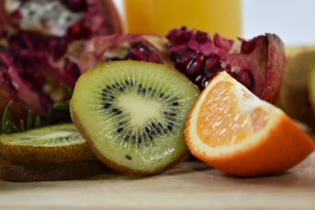 antioxidant, diet, fruit, kiwi, seed, slices, vegan, vegetarian, citrus, healthy