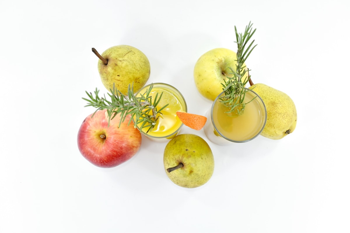 antioxidant, apples, beverage, fruit cocktail, fruit juice, mint, pears, rosemary, spice, syrup