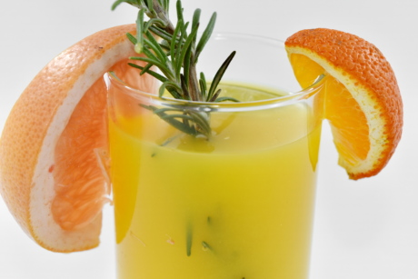 exotique, cocktail de fruits, jus de fruits, pamplemousse, Mandarin, oranges, tropical, verre, fruits, boisson