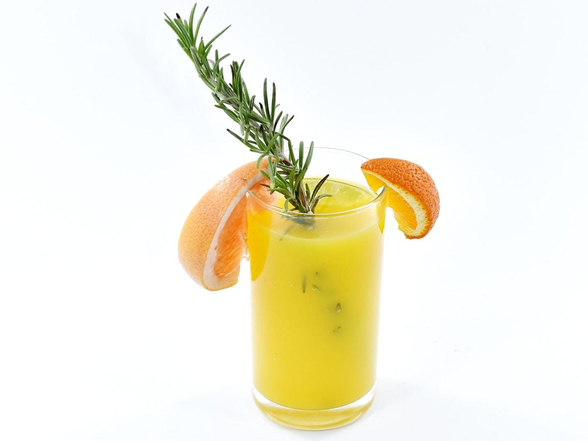 antioxidant, fresh, fruit cocktail, fruit juice, grapefruit, liquid, mandarin, mint, orange, tropical