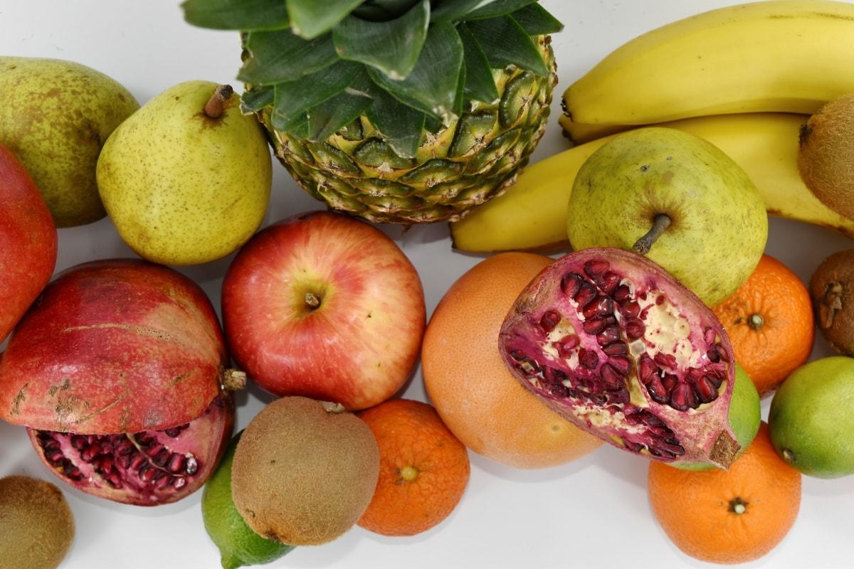 fruit, food, healthy, produce, apple, fresh, banana, nutrition, pomegranate, grapefruit