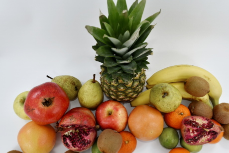 citrus, food, fruit, pineapple, pomegranate, vegan, fresh, healthy, produce, orange