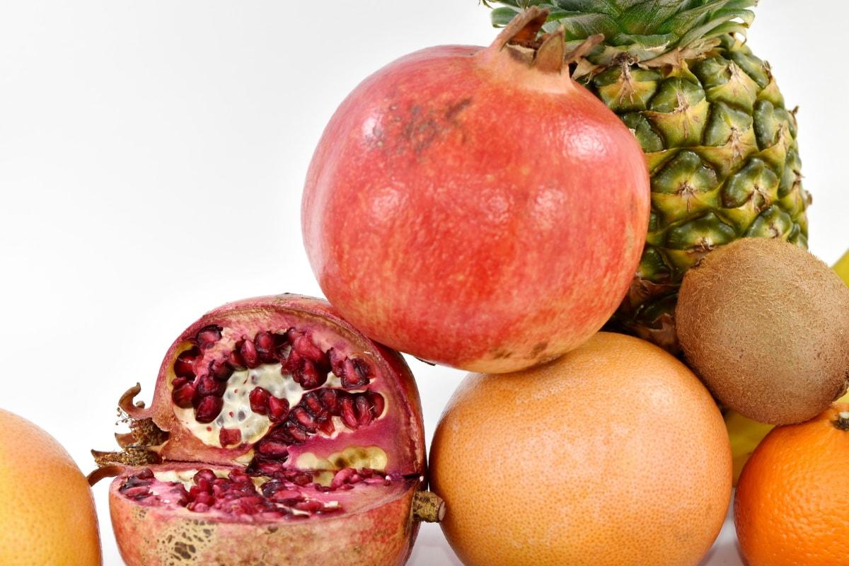 pomegranate, healthy, fruit, vitamin, sweet, food, fresh, health, tropical, nutrition