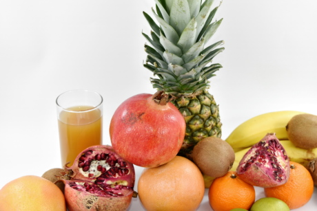 tropical, food, fruit, vitamin, produce, orange, fresh, pineapple, juice, health
