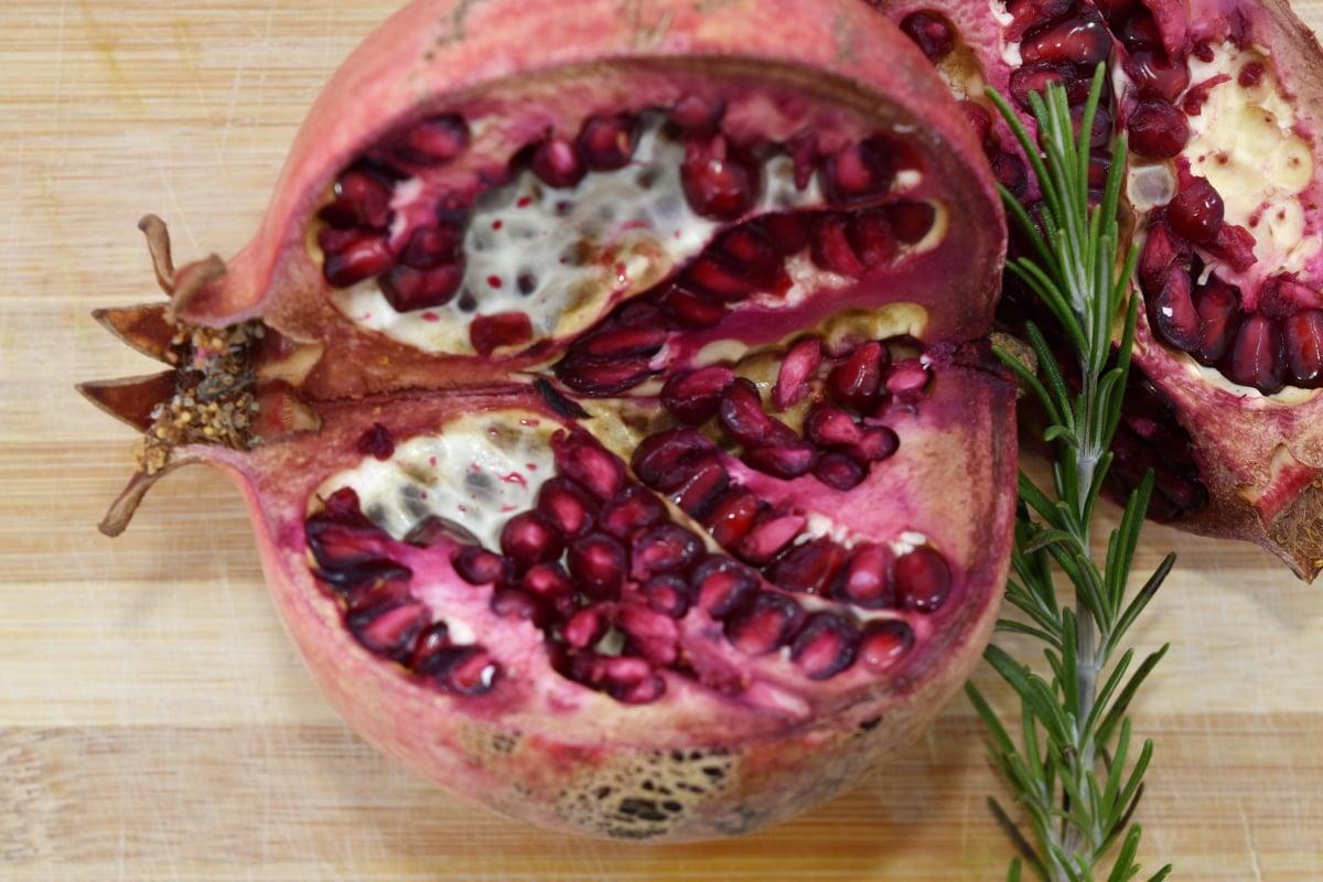 fruit, kernel, spice, twig, pomegranate, food, produce, fruit tree, wood, health