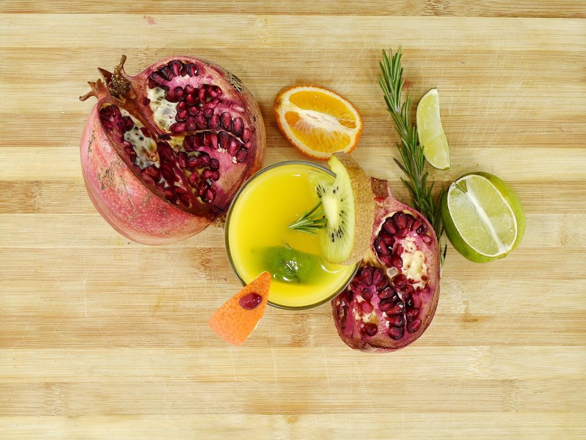delicious, fresh, fruit juice, lemon, lemonade, mandarin, organic, pomegranate, sweet, food