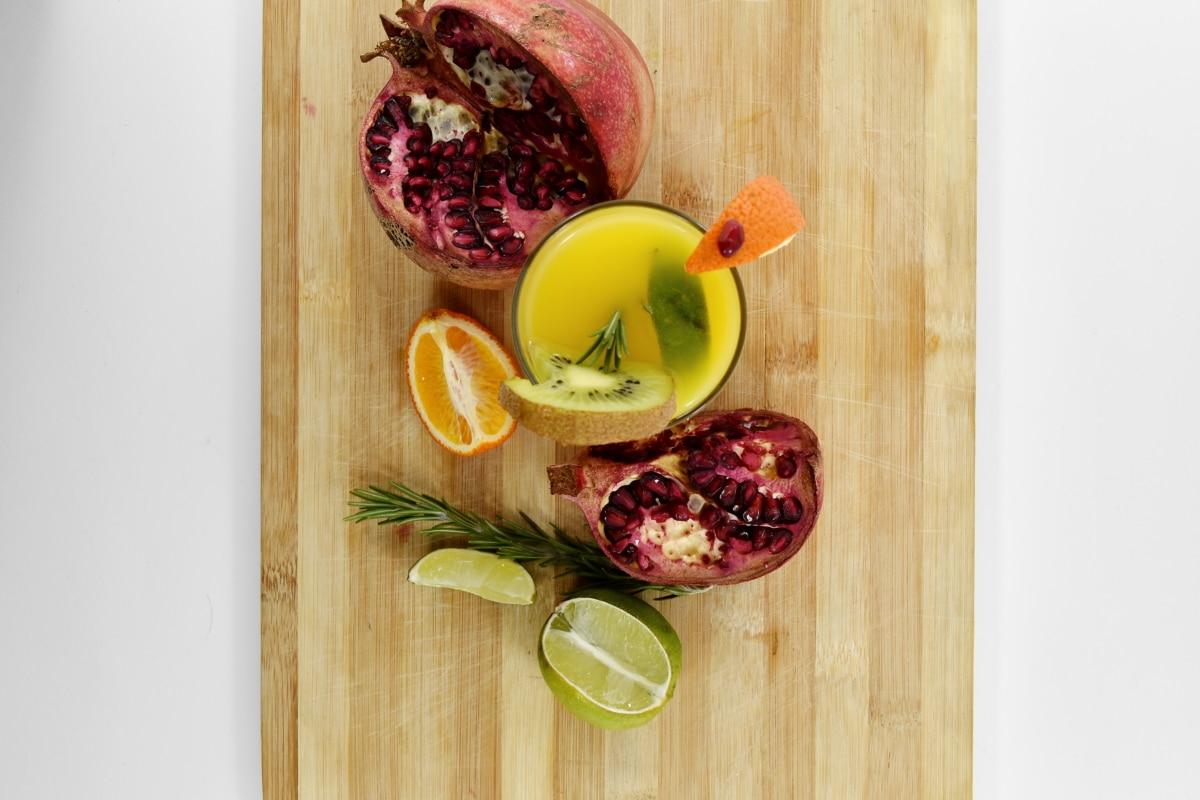 taze, meyve kokteyli, limon, limonata, Nar, lezzetli, yemek, malzemeler, Sağlık, beslenme