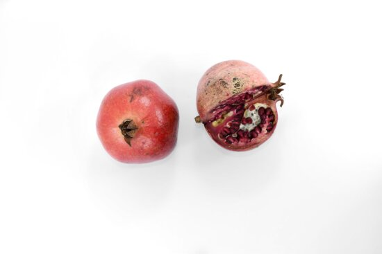 cross section, detail, pomegranate, red, ripe fruit, food, fresh, sweet, fruit, delicious
