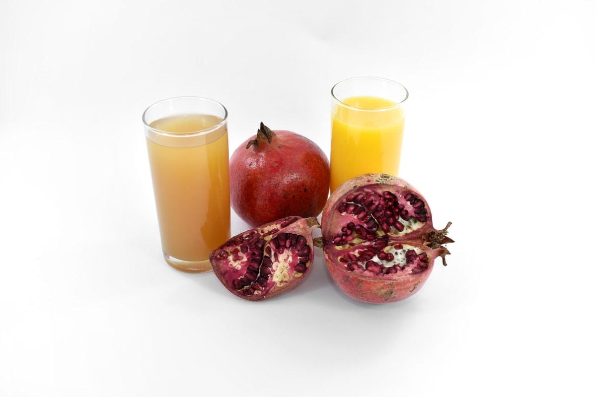 breakfast, pomegranate, vegan, vegetarian, food, drink, fruit, healthy, juice, health