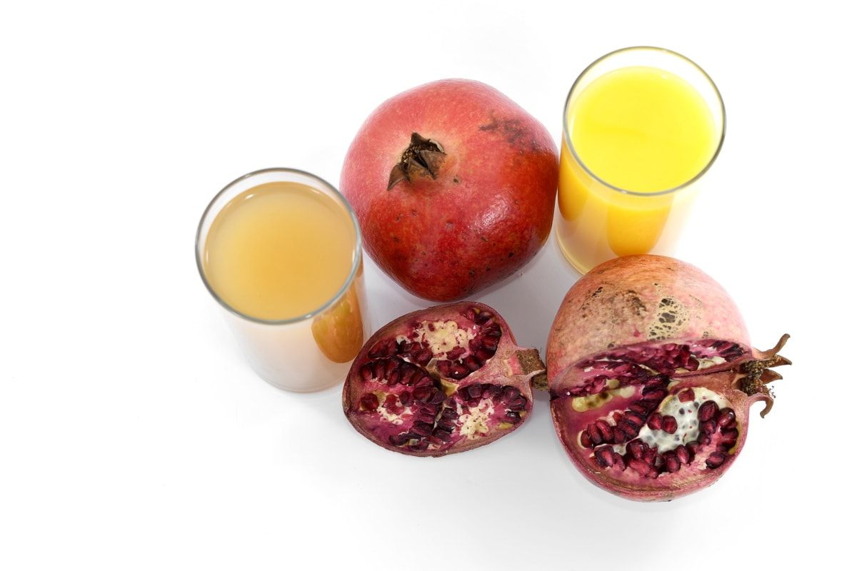 antioxidant, citrus, diet, juice, nutrition, pomegranate, ripe fruit, sweet, healthy, fruit