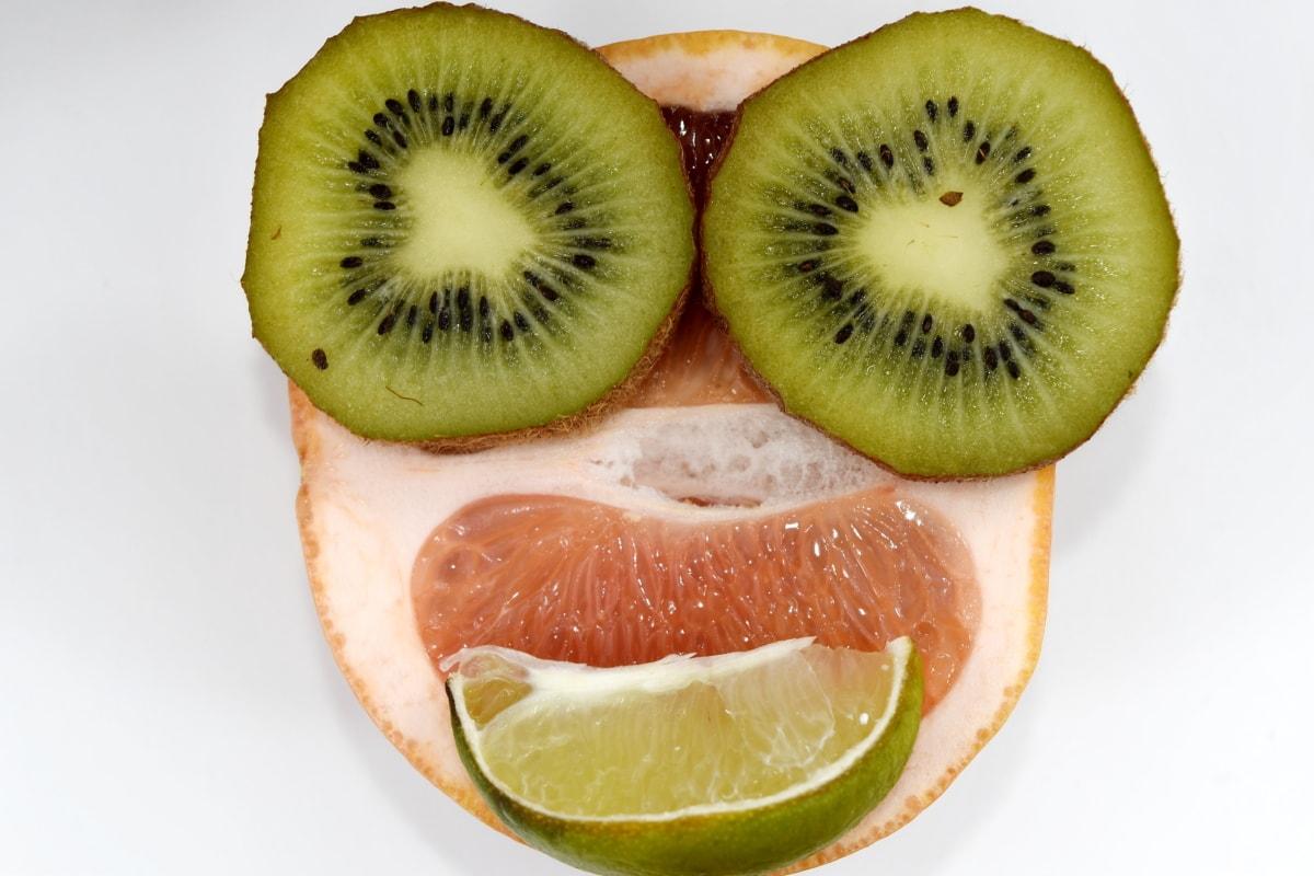 citrus, grappig, grapefruit, Kiwi, citroen, rijp fruit, tropische, gezonde, vers, vitamine