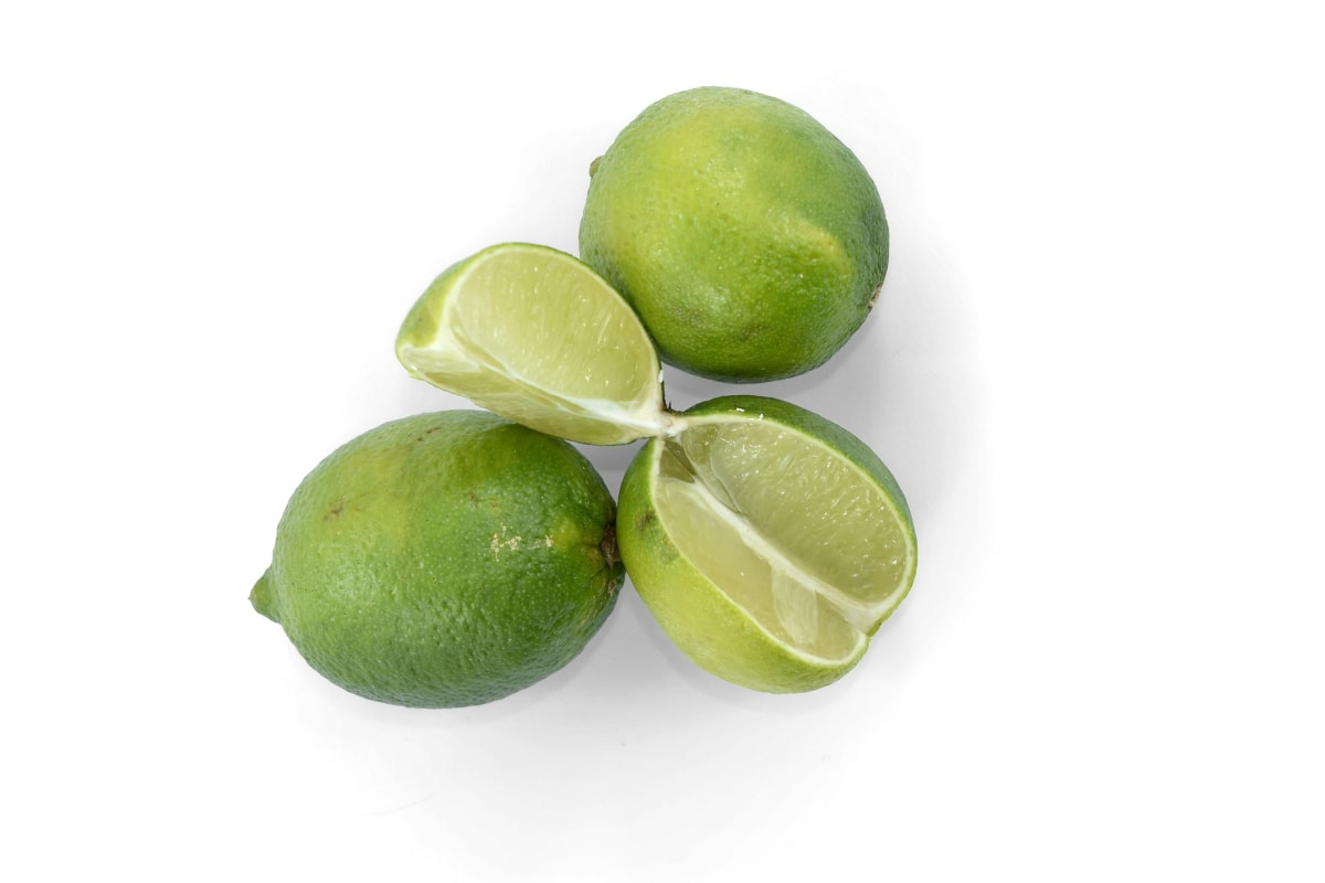 agriculture, bitter, citrus, cross section, green, key lime, ripe fruit, slices, vitamins, whole